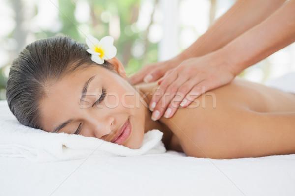 Bella bruna spalla massaggio Foto d'archivio © wavebreak_media