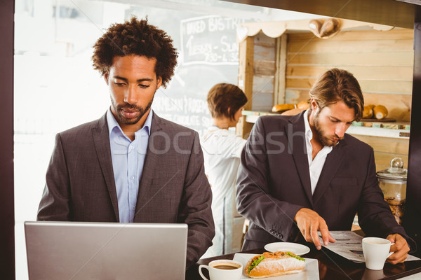 Businessmen enjoying their lunch hour Stock photo © wavebreak_media