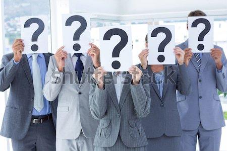 деловые люди вопросительный знак признаков служба лицах Сток-фото © wavebreak_media
