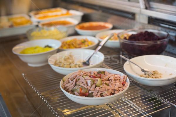 Bowls of fresh tasty salad Stock photo © wavebreak_media