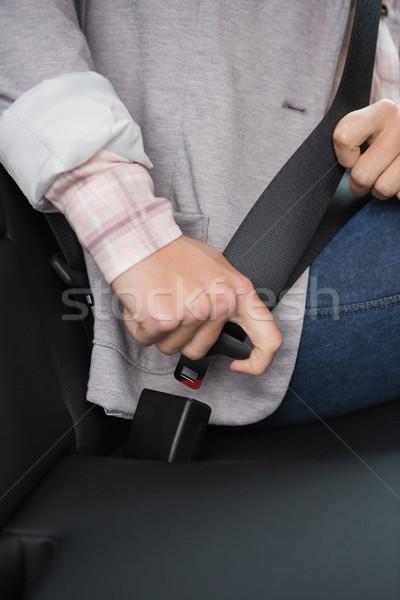 女性 座席 ベルト 車 道路 安全 ストックフォト © wavebreak_media
