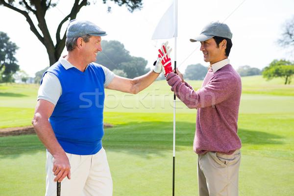 Гольф друзей высокий дыра гольф счастливым Сток-фото © wavebreak_media