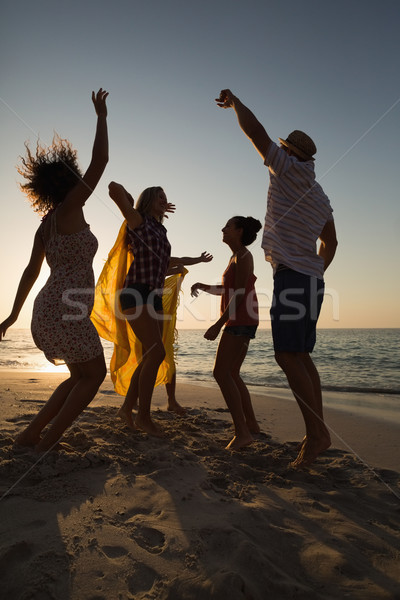 Groep vrienden strand partij man Stockfoto © wavebreak_media