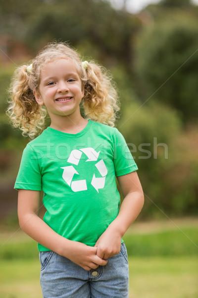 環境にやさしい 女の子 笑みを浮かべて 少女 ストックフォト © wavebreak_media
