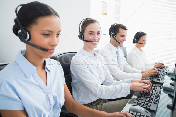 Pessoas de negócios informática escritório computador mulher homem Foto stock © wavebreak_media