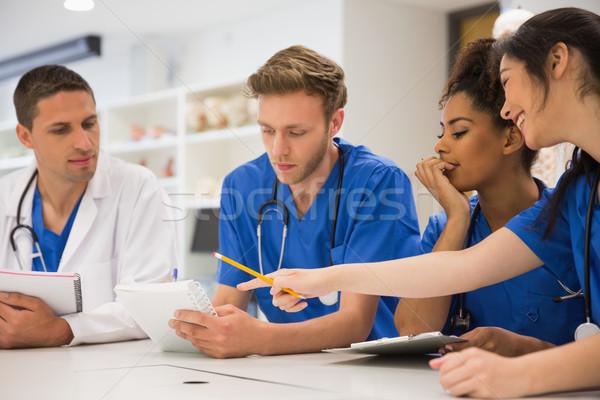 Medical students sitting and talking Stock photo © wavebreak_media