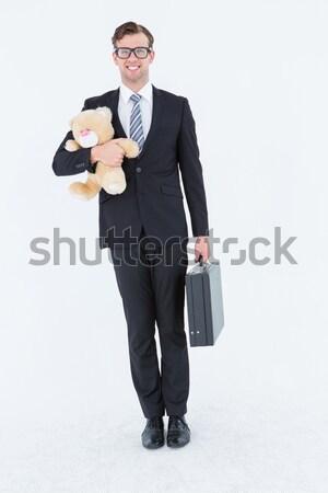 Empresario maletín peluche blanco Foto stock © wavebreak_media