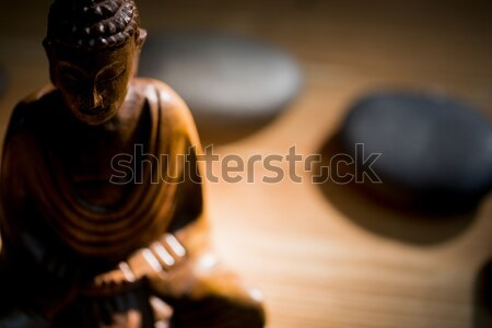 Houten buddha standbeeld tabel shot studio Stockfoto © wavebreak_media