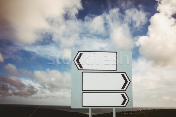 Signpost arrows with copy space Stock photo © wavebreak_media