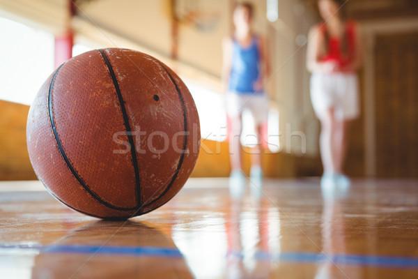 Close up of orange basketball Stock photo © wavebreak_media
