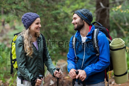 Couple interacting with each other while gardening in the garden  Stock photo © wavebreak_media