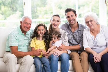 Portret vrolijk senior mensen beoefenaar hond Stockfoto © wavebreak_media