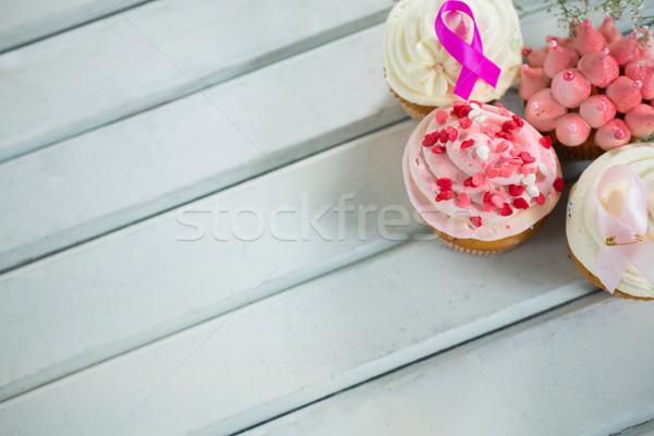 Borstkanker bewustzijn roze Stockfoto © wavebreak_media