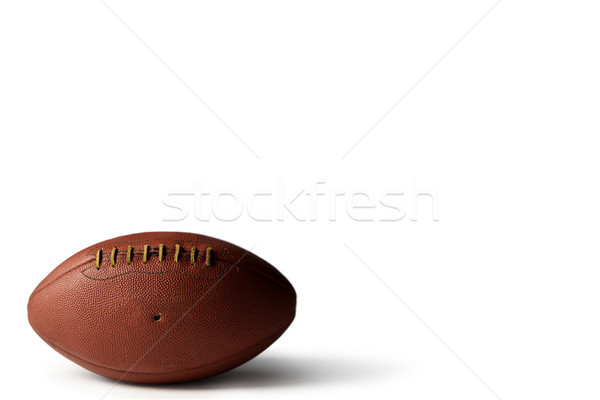 Close up of brown American football Stock photo © wavebreak_media