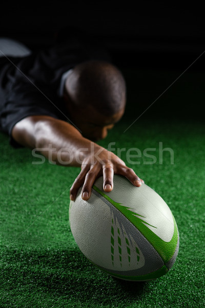 Male making a try on field Stock photo © wavebreak_media