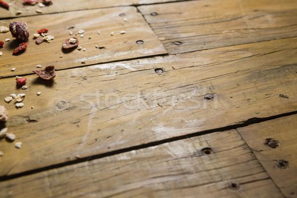 Secar frutas desayuno cereales mesa de madera primer plano Foto stock © wavebreak_media