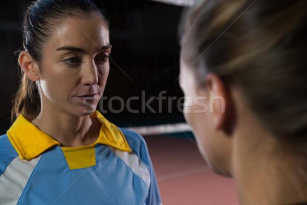 バレーボール プレーヤー 見える 女性 女性 青 ストックフォト © wavebreak_media