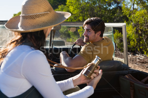 Man with woman in off road vehicle Stock photo © wavebreak_media