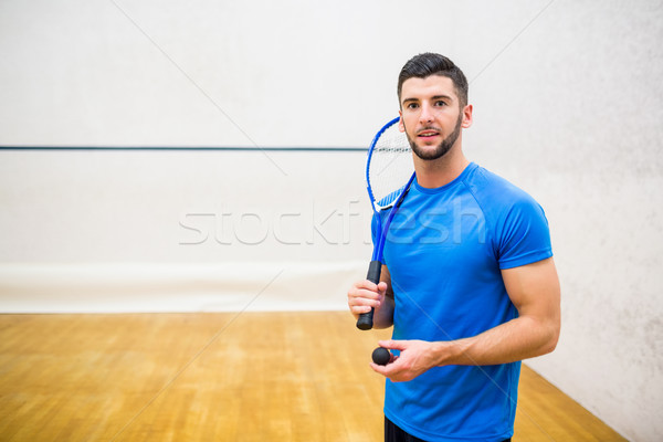 Man eager to play some squash Stock photo © wavebreak_media