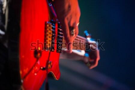 Obraz pływające kolory gitarzysta Zdjęcia stock © wavebreak_media
