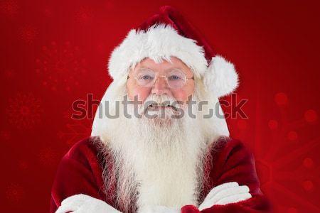 Noel baba kırmızı tahta beyaz adam yaşlı Stok fotoğraf © wavebreak_media