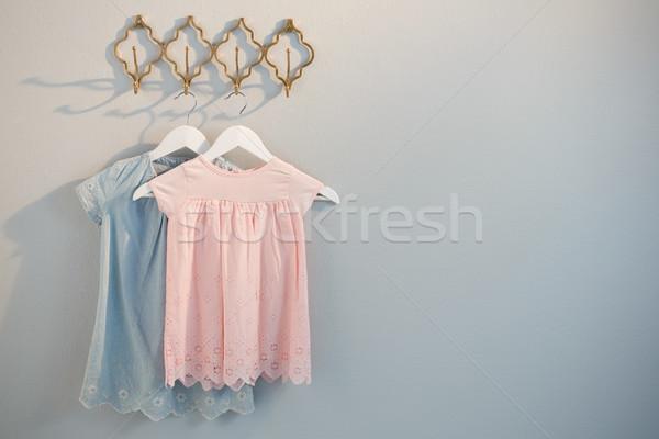 Clothes hanging on hook Stock photo © wavebreak_media