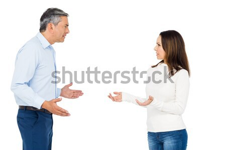 Couple arguing while standing Stock photo © wavebreak_media