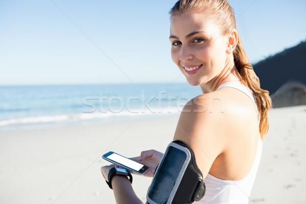 Encajar mujer playa feliz fitness Foto stock © wavebreak_media