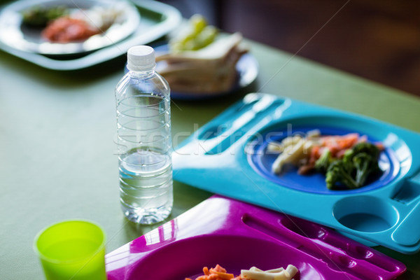 Food with water bottles on table  Stock photo © wavebreak_media