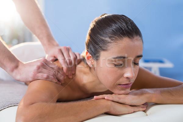 Ombro terapia mulher clínica profissional doente Foto stock © wavebreak_media