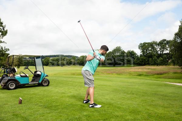 Gericht man spelen golf golfbaan boom Stockfoto © wavebreak_media