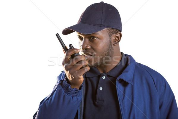Segurança oficial falante diversão bola preto Foto stock © wavebreak_media