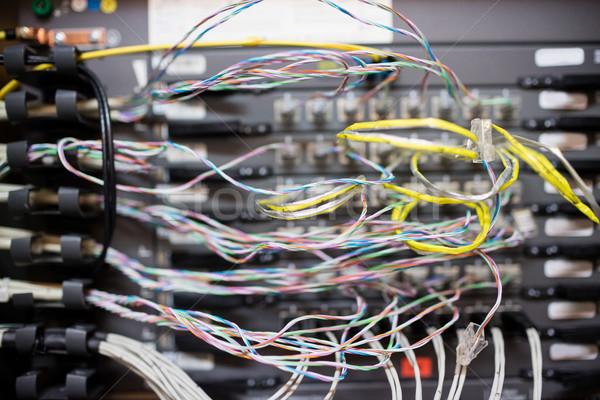 Close-up of rack mounted server Stock photo © wavebreak_media
