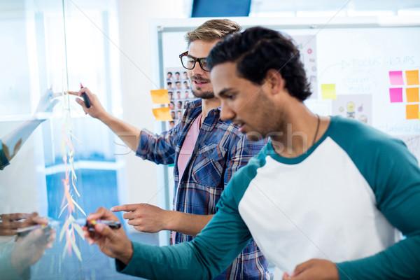 Kreatív üzleti csapat ír cetlik iroda üzlet Stock fotó © wavebreak_media