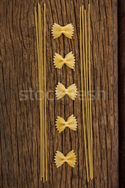 Spagetti fából készült felület vakáció ebéd életstílus Stock fotó © wavebreak_media