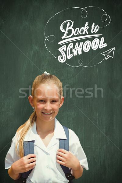 Imagem bonitinho sorridente câmera escolas Foto stock © wavebreak_media
