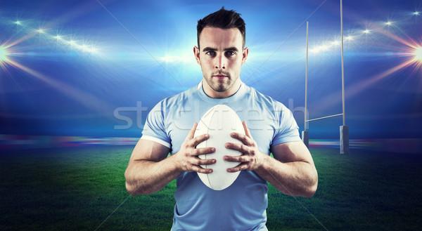 Afbeelding rugby speler naar camera Stockfoto © wavebreak_media