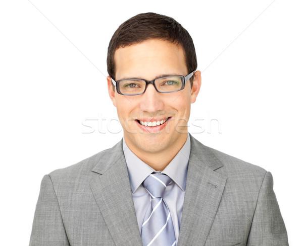 харизматический молодые бизнесмен очки изолированный Сток-фото © wavebreak_media