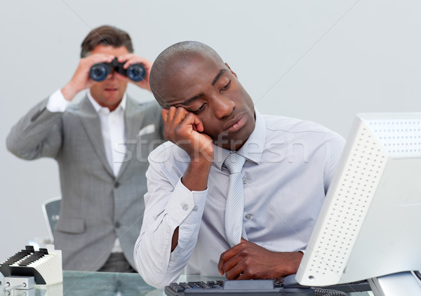 Unhappy businessman getting bored and his manager looking throug Stock photo © wavebreak_media