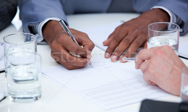 Close-up of ambitious business people closing a deal Stock photo © wavebreak_media