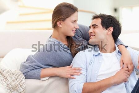 Uważny mąż temperatura dziewczyna strony Zdjęcia stock © wavebreak_media