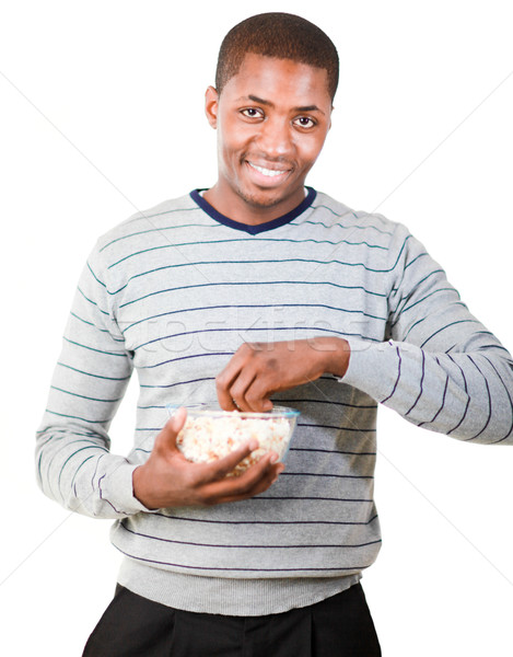 Man holding pop corn Stock photo © wavebreak_media