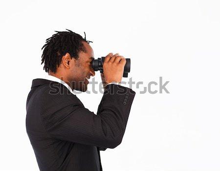 Affaires jumelles homme verre verres Photo stock © wavebreak_media