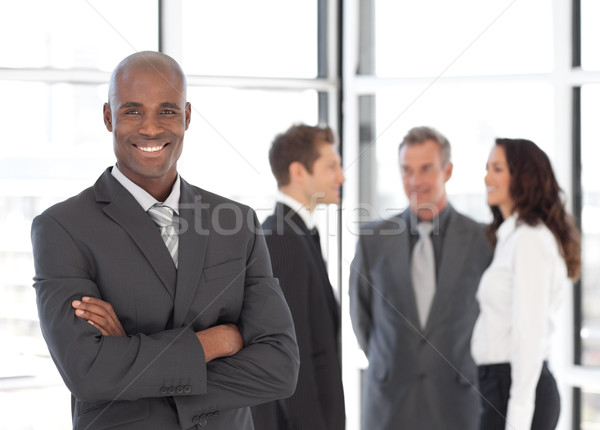 ビジネスマン チーム 小さな ビジネス 笑顔 電話 ストックフォト © wavebreak_media