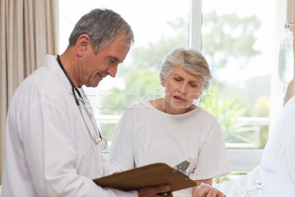 врач пациент женщину человека больницу области Сток-фото © wavebreak_media