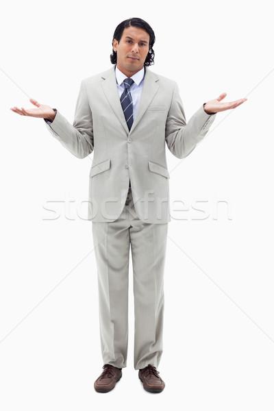 Porträt unschuldig Geschäftsmann weiß Modell Hintergrund Stock foto © wavebreak_media