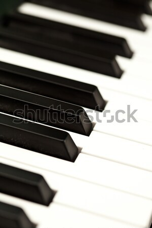 Clavier piano amusement noir sonores blanche Photo stock © wavebreak_media