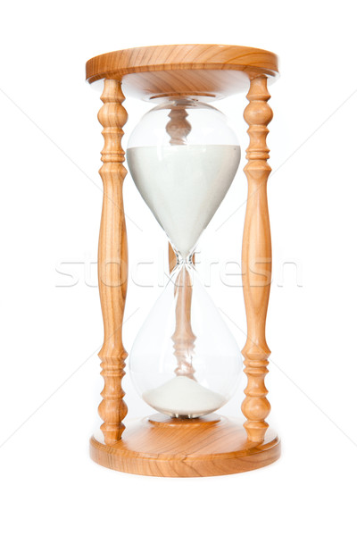 Hourglass against a white background Stock photo © wavebreak_media