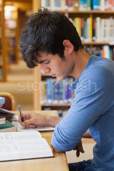öğrenci eğitim büro kolej kütüphane kitaplar Stok fotoğraf © wavebreak_media