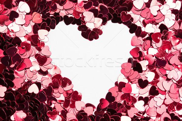心臓の形態 紙吹雪 ピンク 愛 中心 ロマンス ストックフォト © wavebreak_media